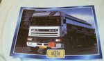 DAF 95-350 Ati Space Cab 1987 tanker Truck framed picture